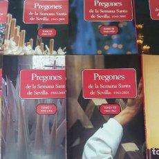 Coleccionismo: COLECCIÓN PREGONES DE LA SEMANA SANTA DE SEVILLA. 2002 ABC.TOMO I, II, III, IV, V, VI Y VII. Lote 141591874