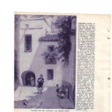 Coleccionismo: AÑO 1933 RECORTE PRENSA PINTURA EXPOSICION PINTOR GONZALO BILBAO ARTISTA. Lote 141599738