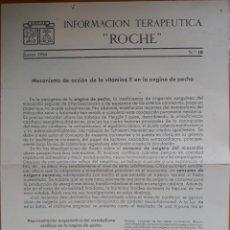 Coleccionismo: INFORMACIÓN TERAPÉUTICA N°10 ROCHE 1954. Lote 142135256