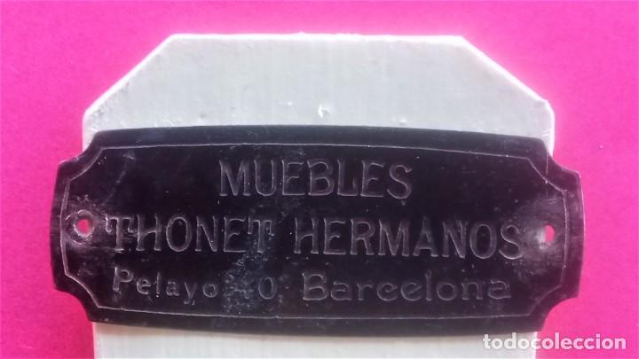Coleccionismo: ANTIGUA SILLA EN MINIATURA,SIGLO XX,PROPAGANDA MUEBLES THONET HERMANOS,BARCELONA,MADERA Y METAL - Foto 8 - 142237082