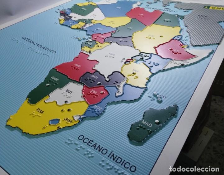 Relieve De Africa Mapa.Braille Mapa Politico De Africa En Relieve Sold