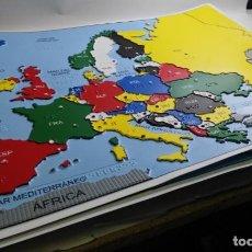 Coleccionismo: BRAILLE - MAPA POLITICO DE EUROPA EN RELIEVE - ONCE - 62 X 46 CM.. Lote 142501134