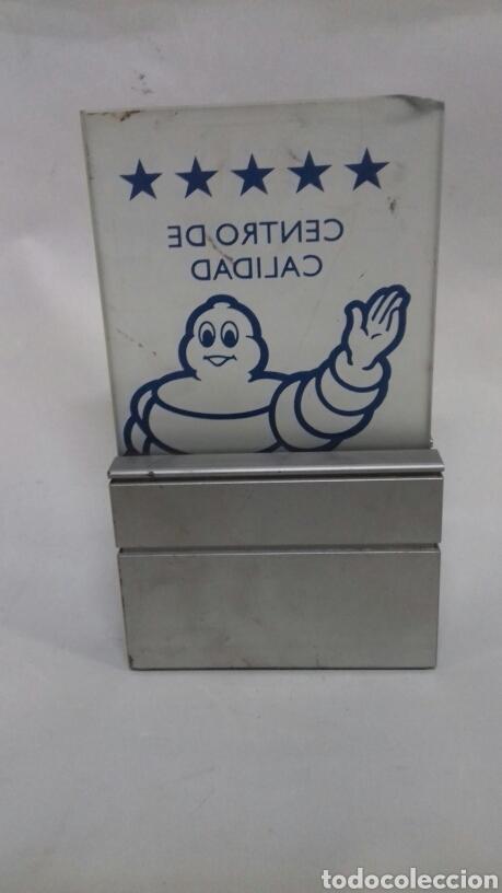 Coleccionismo: Michelin. Decoración para coleccionistas. Cristal y aluminio. - Foto 3 - 142615294