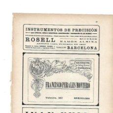 Coleccionismo: AÑO 1919 RECORTE PRENSA PUBLICIDAD FRANCISCO PERALES MONTERO CONSTRUCTOR CIELOS RASOS ADORNISTAS. Lote 142629174