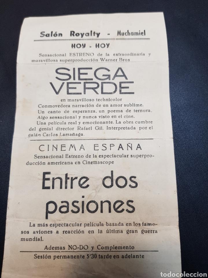 Coleccionismo: Programa de mano Cine *Siega Verde* - Foto 2 - 142852881