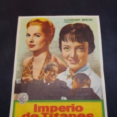 Coleccionismo: PROGRAMA DE MANO CINE *IMPERIO TITANES*. Lote 142853132