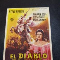 Coleccionismo: PROGRAMA DE MANO CINE *EL DIABLO BLANCO*. Lote 142853394