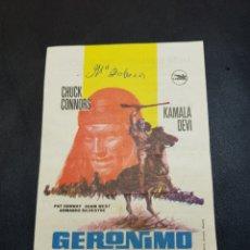 Coleccionismo: PROGRAMA DE MANO CINE *GERONIMO*. Lote 142853562