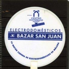 Coleccionismo: PAY-PAY DE PLASTICO=CON PUBLICIDAD EN EL ANVERSO-ELECTRODOMESTICOS BAZAR SANJUAN-MALAGA=.. Lote 142943722