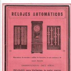 Coleccionismo: AÑO 1927 PUBLICIDAD MODESTO MARTINEZ RELOJ RELOJES AUTOMATICOS DEPOSITO DEL RELOJ OMEGA. Lote 143010978