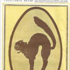 Coleccionismo: AÑO 1927 PUBLICIDAD CAFES Y CHOCOLATES EL GATO NEGRO HIJO DE B ESCOBAR TORRIJOS TOLEDO. Lote 143011230