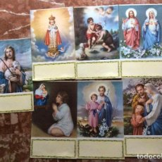Coleccionismo: TAPAS DE CALENDARIO RELIGIOSOS 35CMX21CM 7UNIDADES.. Lote 143058882