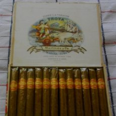 Coleccionismo: CAJA DE PUROS HABANOS- CUBA TROYA 25 UNIVERSALES ((( COMPLETA Y BUEN ESTADO))). Lote 143055866