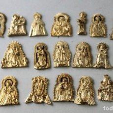 Coleccionismo: LOTE DE 21 MEDALLAS DE VÍRGENES DE PUEBLOS DE LA PROVINCIA DE HUELVA. TAMAÑO APROX 3 CM. Lote 143152646