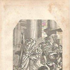 Coleccionismo: LAMINA 11573: LOS VENDEDORES SON ARROJADOS DEL TEMPLO. Lote 143340864