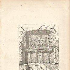 Coleccionismo: LAMINA 11563: SEPULCRO DE ROUSTAM EN PERSIA. Lote 143342036