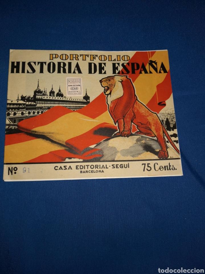 Coleccionismo: Lote portafolios Historia de España. Casa Editorial Seguí Barcelona. Ejemplares N° 84-91-92-93 - Foto 2 - 143378462
