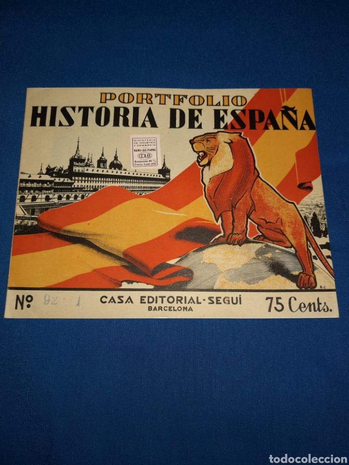 Coleccionismo: Lote portafolios Historia de España. Casa Editorial Seguí Barcelona. Ejemplares N° 84-91-92-93 - Foto 3 - 143378462