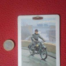 Coleccionismo: POSAVASOS COASTER MAT CARD O SIMIL CASTELLA PANATELLA CIGARS MOTORING MOTO B.S.A. BANTAM MOTORCYCLE . Lote 143621930
