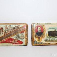 Coleccionismo: 2 PAQUETES DE PICADURA SELECTA EXTRAFINA JOSE GENERY BATET LA ESCEPCIÓN HABANA HECHO EN CUBA. Lote 143630306
