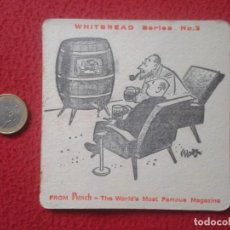 Coleccionismo: POSAVASOS COASTER BEER MAT CERVEZA WHITEBREAD FROM PUNCH FAMOUS MAGAZINE BOXEO BOXING BARRIL BIER . Lote 143675502