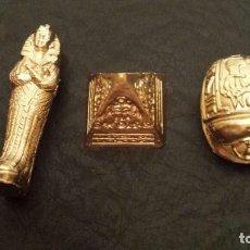 Coleccionismo: FIGURAS EGIPCIAS COLOR ORO. Lote 143840542