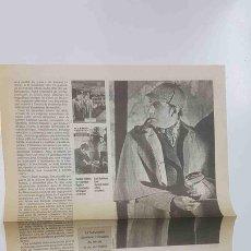 Coleccionismo: ARTICULO LE MONDE - ARTICULO SOBRE SHERLOCK HOLMES - LHOMME AUX CENT VISAGES (2 PAGINAS). Lote 143852144