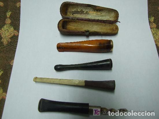 BOQUILLA CIGARROS AMBAR Y ORO Y VARIAS (Coleccionismo - Objetos para Fumar - Otros)