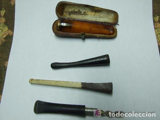 Coleccionismo: BOQUILLA CIGARROS AMBAR Y ORO Y VARIAS - Foto 2 - 144001130