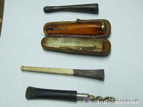 Coleccionismo: BOQUILLA CIGARROS AMBAR Y ORO Y VARIAS - Foto 4 - 144001130