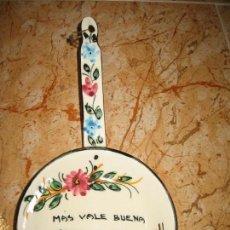 Coleccionismo: SARTEN DE CERAMICA DECORADA. Lote 144086570