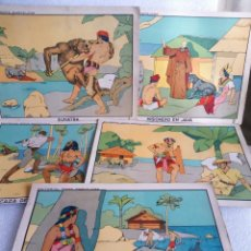 Coleccionismo: RARAS LAMINAS EDITORIAL ROMA BARCELONA RECORTABLES SUMATRA MISINONERO EN JAVA FILIPINAS AUSTRALIA. Lote 144098150