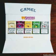 Coleccionismo: CIGARRILLOS CAMEL. EXPOSITOR ESTANCO. PRINCIPIOS SIGLO XXI. ENVIO INCLUIDO EN EL PRECIO.. Lote 144123784