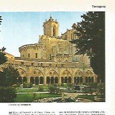 Coleccionismo: LAMINA 11350: CATEDRAL DE TARRAGONA. Lote 141847212