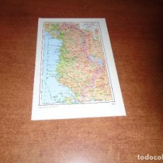 Coleccionismo: LÁMINA ESPASA: MAPA DE ALBANIA. Lote 144327106