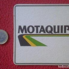 Coleccionismo: POSAVASOS COASTER MAT MOTAQUIP MOTOR OIL ? ACEITE LUBRICANTE ? UK ? VER FOTO/S. CARTÓN DURO O SIMIL. Lote 144601946