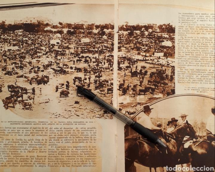 Coleccionismo: En la Feria de Abril. Sevilla vuelve a ser Sevilla. 1934 - Foto 2 - 144706765