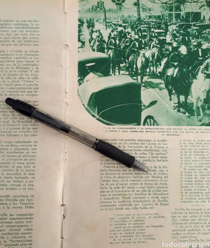 Coleccionismo: En la Feria de Abril. Sevilla vuelve a ser Sevilla. 1934 - Foto 3 - 144706765