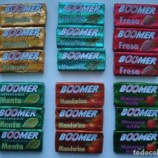Coleccionismo: LOTE 18 DISTINTOS CHICLES BUBBLE GUM BOOMER! CROMO CHICLE SIN ABRIR RARO AÑOS 90 . Lote 144744074