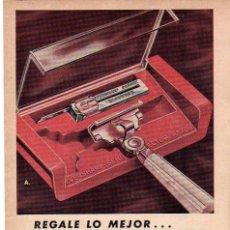 Coleccionismo: ANUNCIO PUBLICIDAD MAQUINILLA DE AFEITAR EVERSHARP-COMPRESAS KOTEX. Lote 144756518