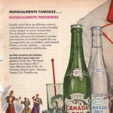 Colecionismo: ANUNCIO PUBLICIDAD REFRESCOS CANADA DRY. Lote 144760706