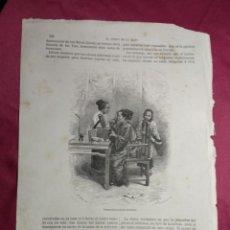 Coleccionismo: GRABADO. DAMA CHINA EN SU TOCADOR . VIAJE A CHINA. 1878. Lote 144785546