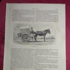 Coleccionismo: GRABADO. CARRETA CHINA . VIAJE A CHINA. 1878. Lote 144786226