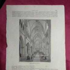 Coleccionismo: GRABADO. CAPILLA EPISCOPAL DE PEKIN . VIAJE A CHINA. 1878. Lote 144786634