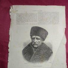 Coleccionismo: GRABADO. EL DOCTOR NORDENSKJOLD. EXPEDICION POLAR SUECA. VIAJE A CHINA. 1878. Lote 144788190