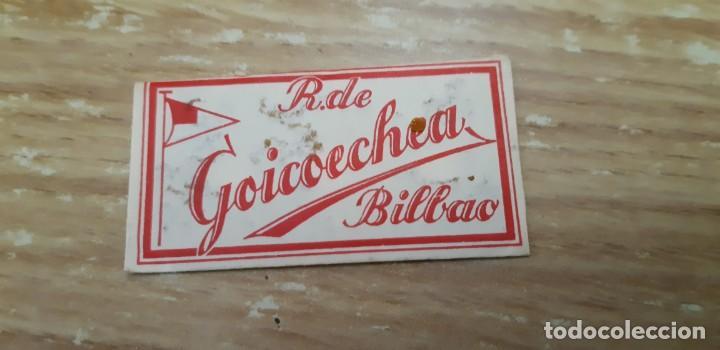 Coleccionismo: antigua cuchilla de afeitar marca r. de goicoechea de bilbao - Foto 2 - 144925038