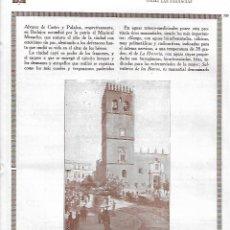 Coleccionismo: AÑO 1927 RECORTE PRENSA FOTOGRAFIA BADAJOZ CATEDRAL Y PLAZA DE SAN JUAN. Lote 145098214