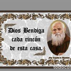 Coleccionismo: AZULEJO 40X25 DE FRAY LEOPOLDO DE ALPANDEIRE Y EL TEXTO DIOS BENDIGA CADA RINCÓN D. Lote 145103266
