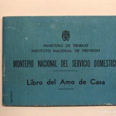 Sammelleidenschaft Papier - VALENCIA. Libro del Amo de Casa. Curioso Documento/libro del Ministerio de Trabajo (a.1959) - 145138390