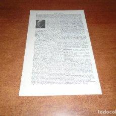 Coleccionismo: LÁMINA LIBRO: JOAQUÍN ABATI Y DÍAZ, AUTOR DRAMÁTICO.. Lote 145179642